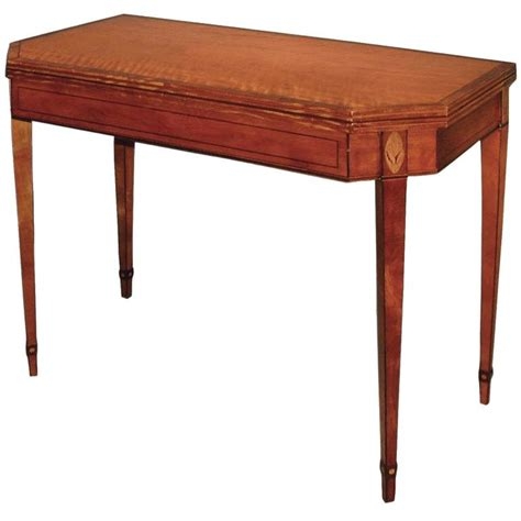 Card Tables For Sale by Antique Late 18th Century Sheraton Period Satinwood Card Table For Sale At 1stdibs