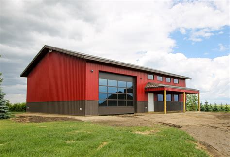 shop buildings post frame acreage shop building construction alberta remuda