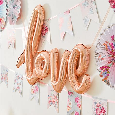 rose gold love balloon classy hen party decorations