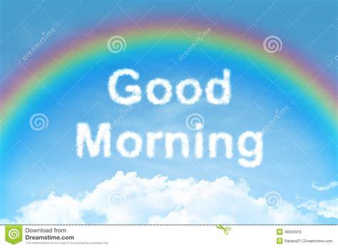 l arcobaleno testo testo della nuvola di buongiorno con l arcobaleno