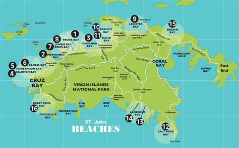 st johns island map map st usvi map info on all beaches us