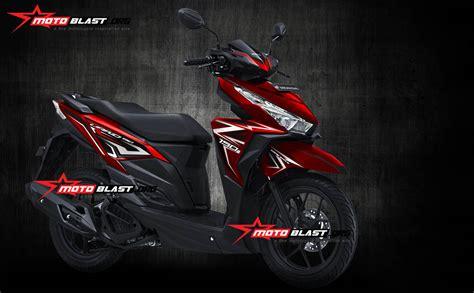 Striping Honda Vario 150 One Merah Hitam grafis inspirasi honda vario 150 esp new carbon monyor motoblast