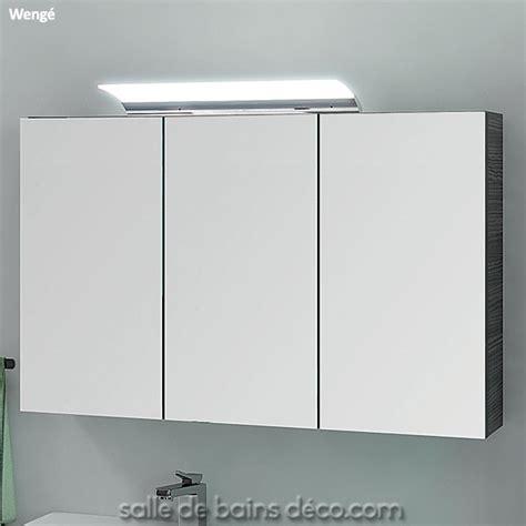 armoire miroir de salle de bain armoire porte en miroir meuble de salle de bains de 100cm