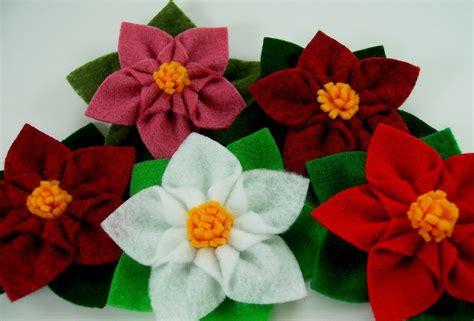 pattern for felt poinsettia flower poinsettia star felt flower pdf tutorial plus by