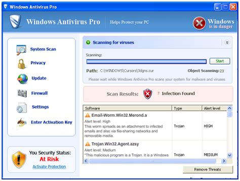 Windows Antivirus Pro Tackled by the Microsoft Malicious