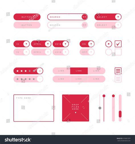 ui design elements vector ui design elements vector button search stock vector