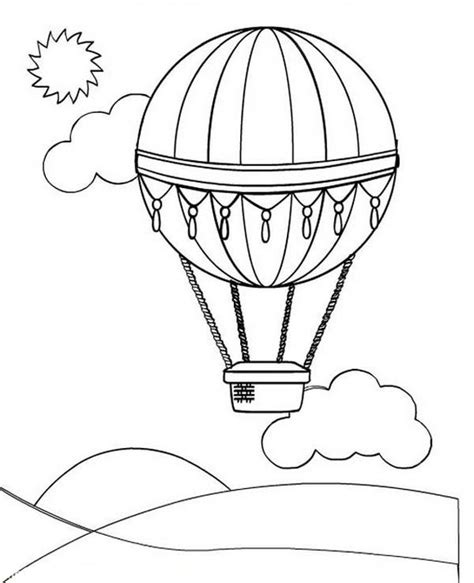 air balloon coloring page air balloon pages to print out coloring pages