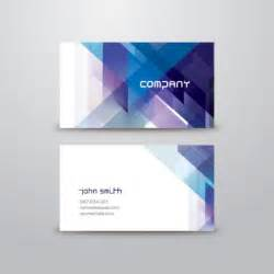 business card in abstract business card template vector free