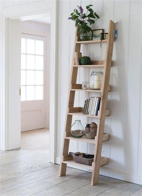 ladder bookcase oak our original oak shelf ladder with 6 graded shelves