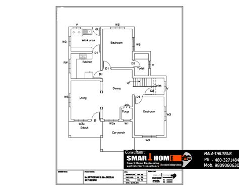 kerala house plan at 1610 sq ft