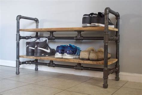 diy firewood rack pipe buy or make yourself https www etsy listing 212310191 shoe rack made from reclaimed barn
