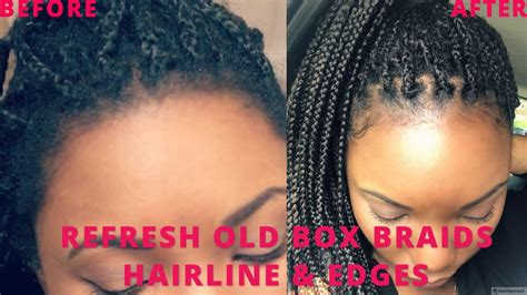 old box braids how to refresh old box braids frizzy loose edges