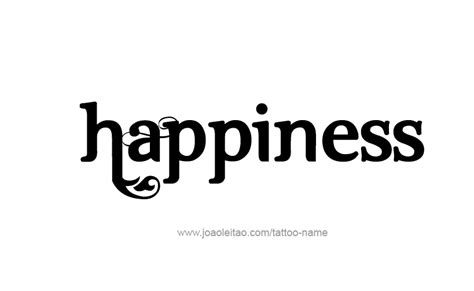 happiness feeling name tattoo designs tattoos with names
