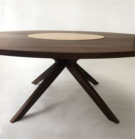 round for 6 contemporary modern solid walnut round dining with