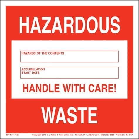 Hazardous Waste 90 Day Accumulation Labels Free Hazardous Waste Label Template