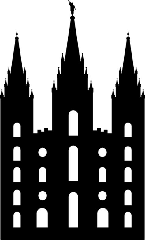 Salt Lake Temple Silhouette Clip Art At Clker Com Vector Lds Temple Template