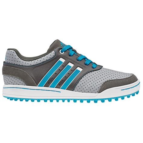 adidas adicross iii golf shoes junior grey blue cinder at intheholegolf