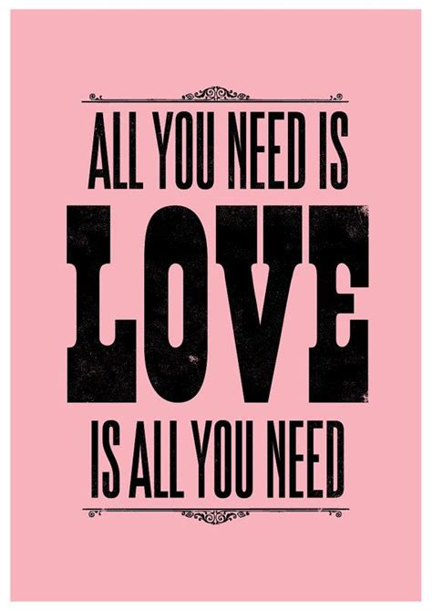 Kaos The Beatles All You Need Is beatles song lyric the beatles print