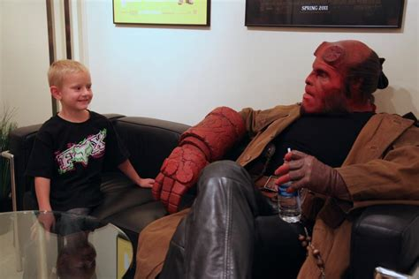 ron perlman kids ron perlman visits kids as hellboy for make a wish collider