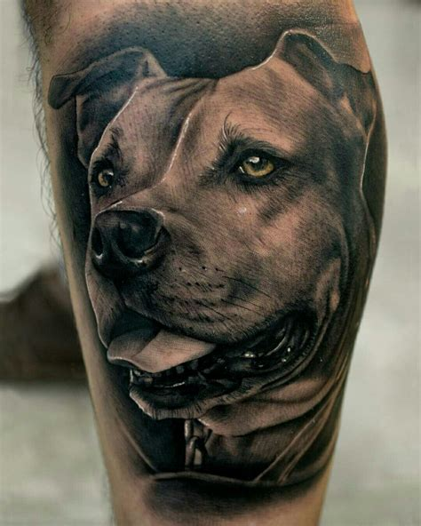 pitbull tattoo designs done by pablo hernandez bambamsi pitbull