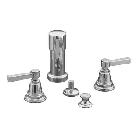 Kohler Pinstripe Faucet by Kohler Pinstripe 2 Handle Bidet Faucet In Polished Chrome