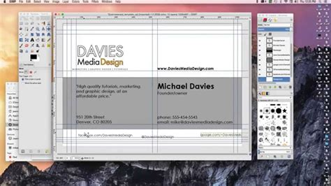 gimp 2 8 business card template how to make a business card in gimp 2 8