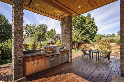 outdoor cooking area plans house with outdoor kitchen setup modern house designs