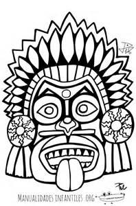 imagenes mayas para imprimir mascara maya 4 manualidades infantiles