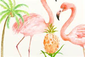 watercolor clipart flamingo family by cornercroft