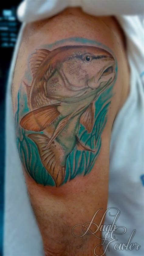 redfish tattoo redfish tattoos by hugh shops we