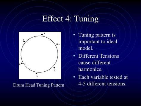 drum tuning pattern ppt acoustic drum exploration powerpoint presentation