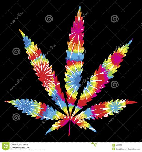 tie dyed pot leaf stock photos image 6835573