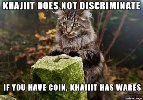 Khajiit Meme - khajiit does not discriminate khajiit khajiit has