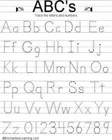 Alphabet Letter Tracing Templates by Alphabet Letter Tracing Sle Letter Template