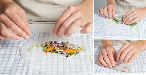 What Can You Make With Rice Paper - canap 233 ideas minty vegetable and rice paper rolls