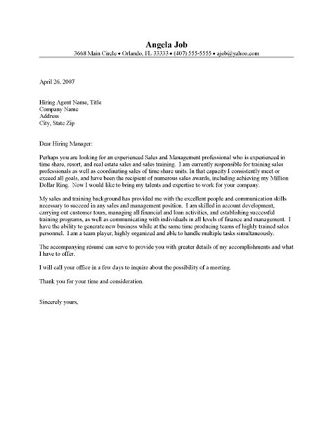 cover letter exle resume cover letter real estate