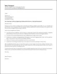 Cover Letter For A Resume Exles by Software Engineer Cover Letter Resumepower