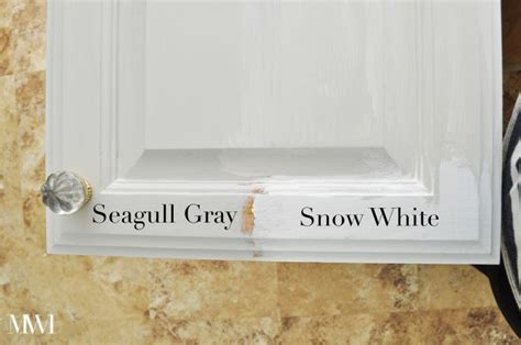 seagull gray paint cabinets kitchen update choosing a cabinet color oak cabinets