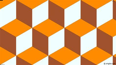 orange and white l wallpaper 3d cubes brown orange white ff8c00 a0522d