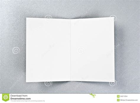 how to make open when cards white open card silver background stock illustration