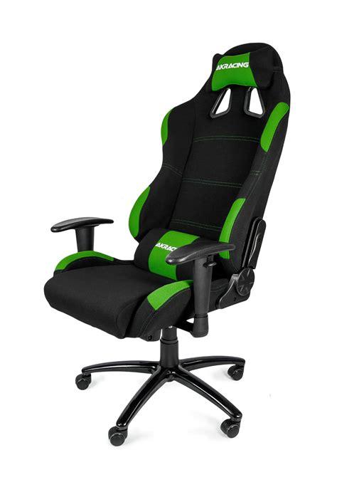 fnatic stuhl akracing gaming chair black green ak k7012 bg