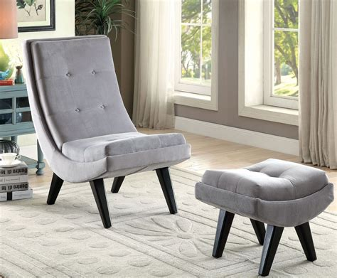 gray chair with ottoman esmeralda gray accent chair with ottoman from furniture of