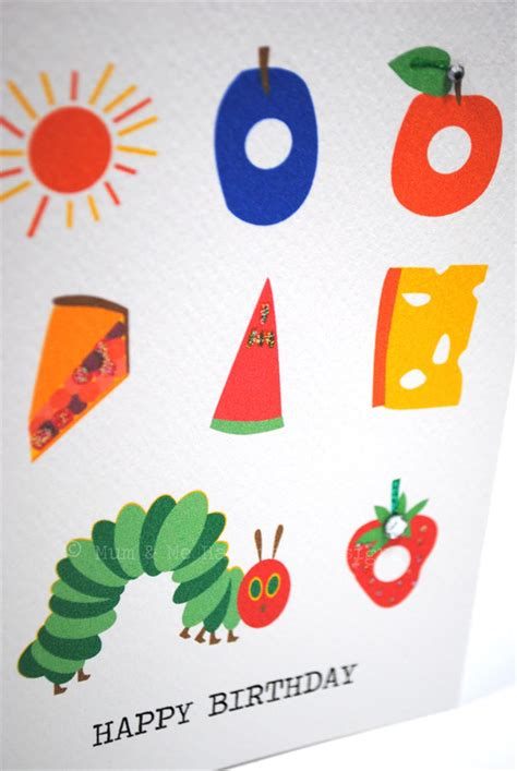 Hungry Caterpillar Birthday Card Happy Birthday Card Boy Or Girl The Very Hungry