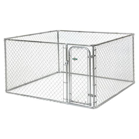 fencemaster 7 5 ft x 7 5 ft x 4 ft boxed kennel 75754