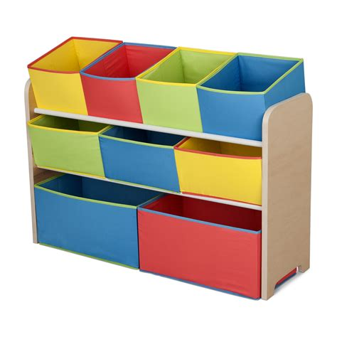organizer bins delta children multi color deluxe toy organizer with bins