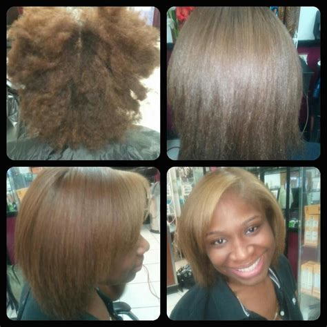 dominican blowout on natural short hair natural hair