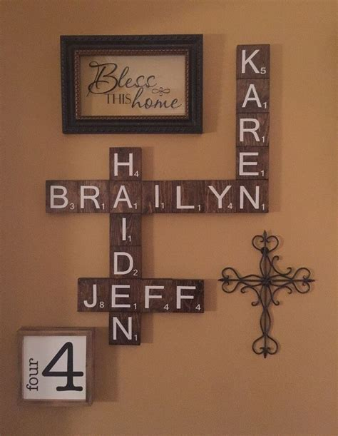 scrabble tile wall decor 17 best ideas about wooden scrabble tiles on