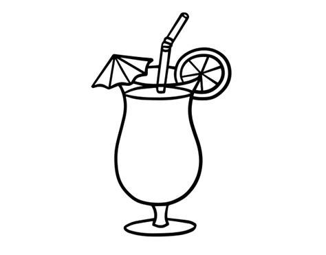 dibujos de bebidas para colorear dibujo de zumo tropical para colorear dibujos net