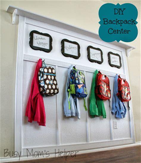 backpack storage ideas pneumatic addict diy back to school storage ideas