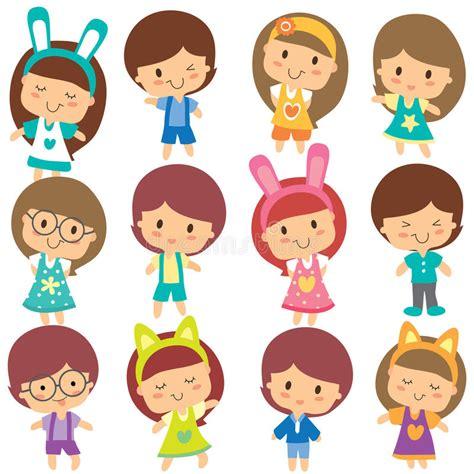 clipart bambini insieme felice di clipart dei bambini illustrazione
